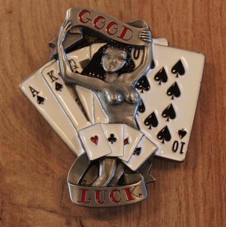 """Buckle """" Good luck """" kaartspel"""