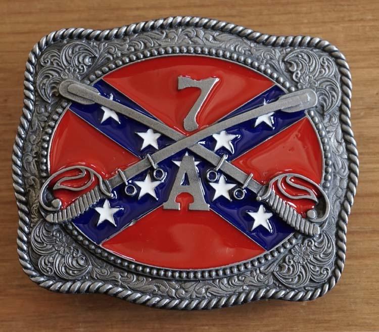"""Buckle """" Rebel vlag met zwaarden 7A """""""