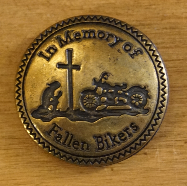 """Concho """" In memory of fallen biker """"   Koper kleurig"""
