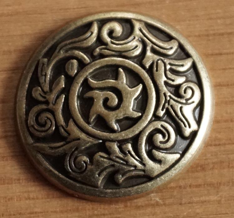 """Concho """" Keltische sierwerk """"  koperkleurig"""