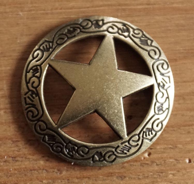 "Concho "" Sheriff ster "" koperkleurig"