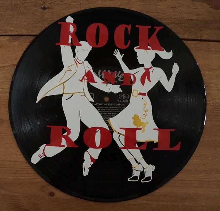 """Decoratie LP """" Rock and Roll danspaar """""""