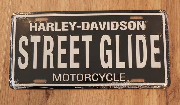 "Kentekenplaat "" Motor Harley Davidson Cylces "" Street gilde"