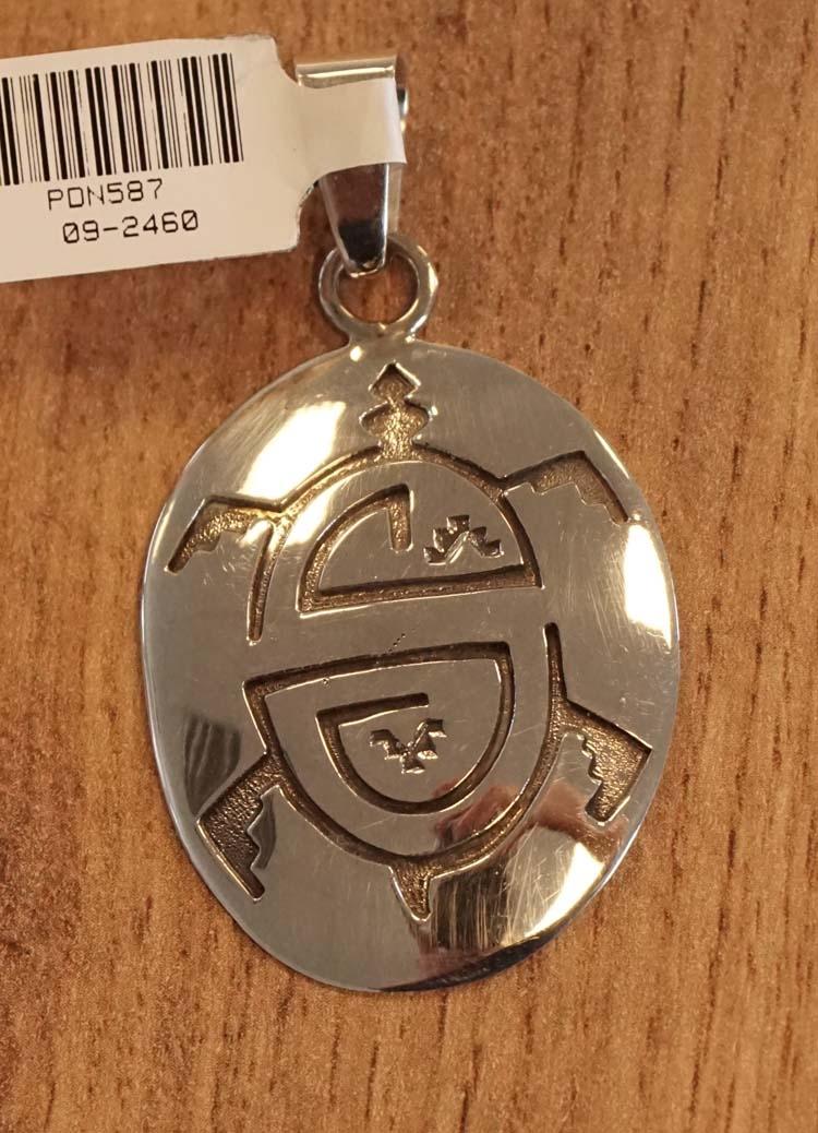 """Sterling zilveren indiaanse hanger """" Schildpad """""""