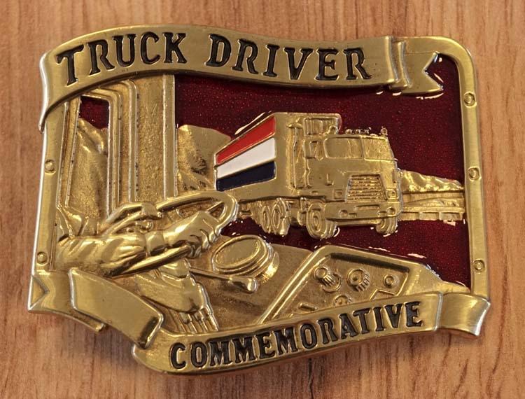 """Truck buckle  """" Truck met Nederlandse vlag """""""