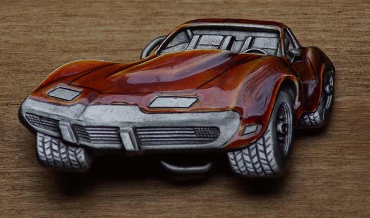 """Verzamel buckle  """" Chevrolet Corvette """"  UITVERKOCHT"""