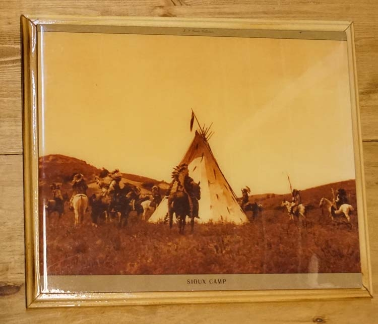 """Westen schilderij """" Sioux camp """""""