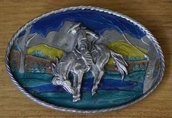 """Western buckle  """" Cowboy op paard """""""