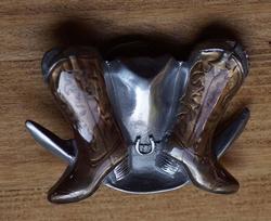 """Country Buckle  """" Laarsjes met hoed """""""