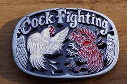 """Riem buckle  """" Cock fighting """"  Hanen gevecht"""
