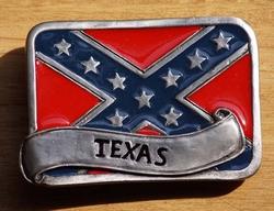 "Koppelgesp  "" Rebel vlag  Texas """