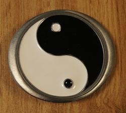 """Buckle / gesp  """" yin/yang """"   UITVERKOCHT"""