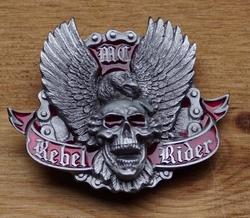 "Belt buckle   "" Rebel rider """