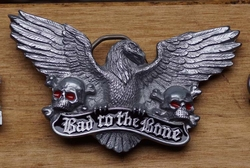"Buckle  "" Bad to the bone ""  Adelaar"