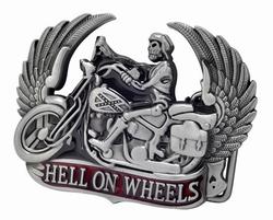 "Motor buckle  "" Hell on wheels """