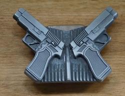 """Lighter buckle """" 2 pistolen met munitie """""""