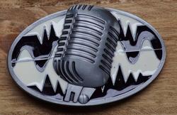 "Muziek gesp  "" Microfoon ""  UITVERKOCHT"