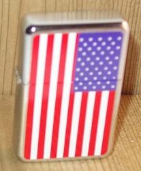 """Aansteker   """"Americaanse vlag """"   Zilverkleurig"""