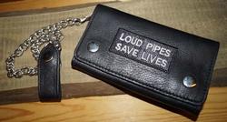 "Trucker portemonnee   ""  Loud pipes save live ""  Zwart"