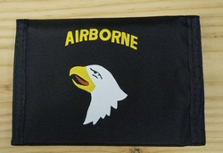 "Portemonnee   "" Airborne  Adelaar ""   Zwart"