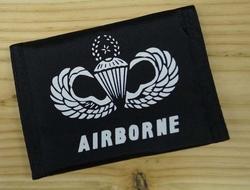 """Portemonnee   """" Airborne  US Navy parachute """"   Zwart"""