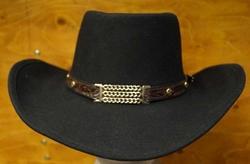 """Cowboy hoed  """" Little Joe """"   Zwart"""