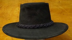 """Suede hoed  """" The Swagman """"   Zwart"""