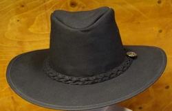 """Leren hoed  """" Scippis """"   Zwart"""