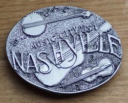 """Muziek gesp """" Nashville """"  Zilverkleurig"""