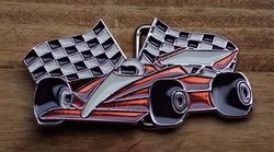 """Verzamel buckle  """" Racing car """""""