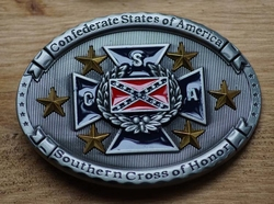 "Gesp  ""  Confederate states of America, Southern cross . """