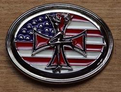 """Gesp buckle  """" Americaanse vlag met kruis """""""