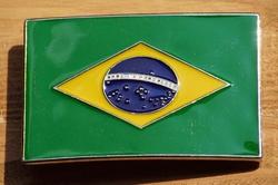 """Gesp voor riem  """" Brazil vlag """""""