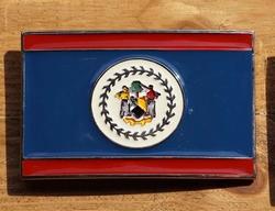 """Gesp voor riem  """" Belize vlag """""""