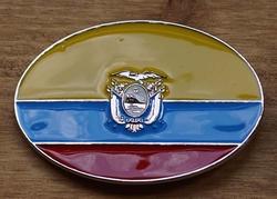 """Gesp voor riem  """" Ecudacor vlag """""""
