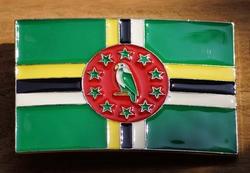 """Gesp voor riem  """" Dominican vlag """""""