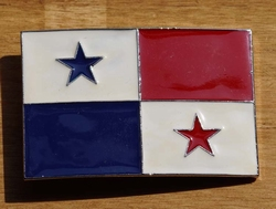 "Gesp voor riem  "" Panama vlag """