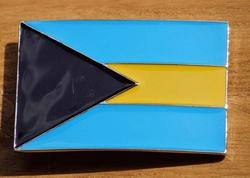 "Gesp voor riem  "" Bahamas vlag """