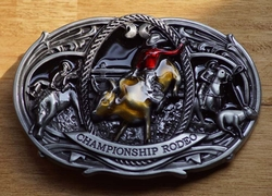 """Western buckle  """" Championship rodeo """""""