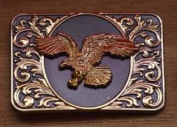 """Buckle  """" Flying eagle """" Black / gold"""
