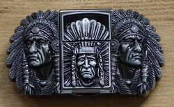 "Belt buckle with lighter "" Indianen """