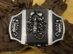 "Belt buckle with lighter  "" Scorpion ""   UITVERKOCHT"