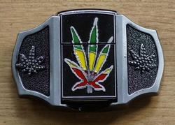 "Belt buckle with lighter  "" Marijuana """
