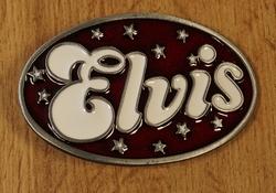 """Elvis gesp  """" Elvis """"  Blauw / wit  UITVERKOCHT"""