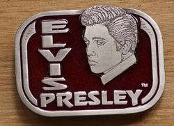 """Elvis gesp  """" Elvis Presley """" Rood"""