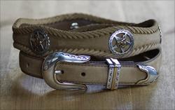 "Western Texas Ranger Star "" Rodeo "" lederen riem"