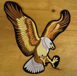"""Strijkapplicatie  """" Vliegende adelaar """"  groot"""