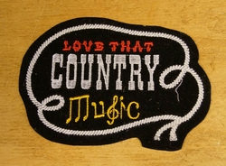 "Strijkapplicatie  "" Love that country music """