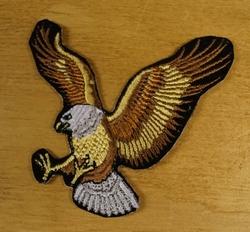 """Strijkapplicatie  """" Vliegende adelaar """"  Links"""