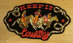 "Strijkapplicatie  "" Keep it country ""  Cowboys"